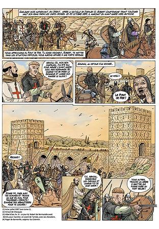 première croisade : Robert Courteheuse attaque le pont de Fer