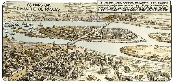 les vikings attaquent Paris