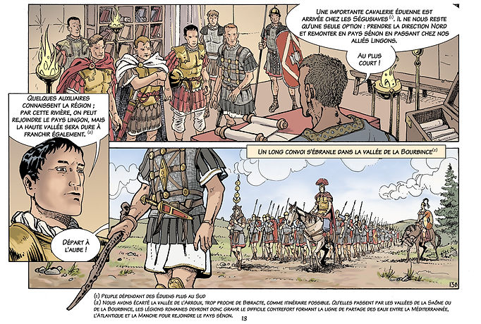 César, et son état major, Brutus, Fabius, Sextius et son aide de camp Aulus.  COUL 13.jpg
