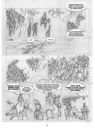 Alésia BD_Crayonné 15_guerrilla gaulois-romains