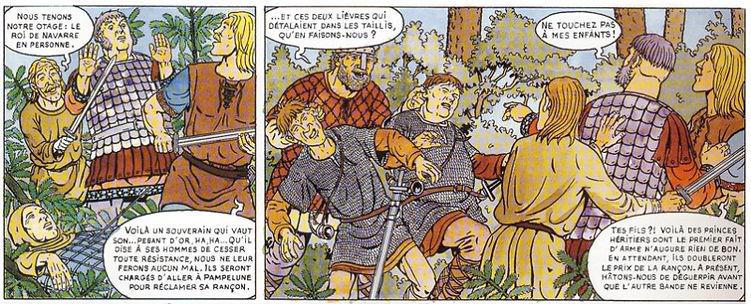Les Vikings capturent Garcia, roi de Navarre