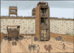 les machines de siège devant Avaricum