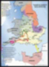 carte Conquête de l'Angleterre 1068