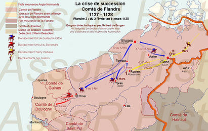 la Flandre en février - mars 1128