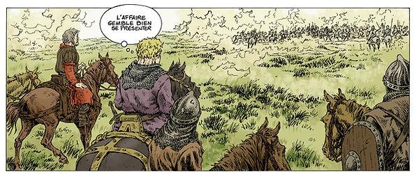 Début de la bataille de Brémule,