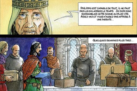 Alienor d'Aquitaine rassemble la rançon pour libérer son fils Richard.