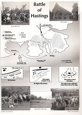 map of Hasting's battle