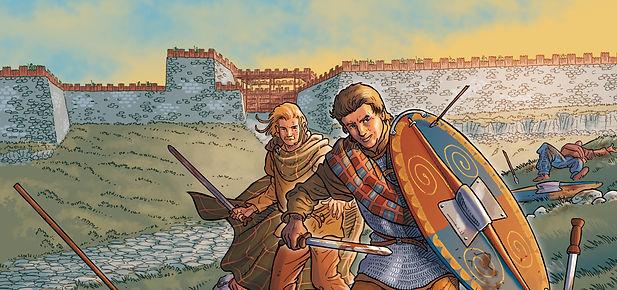 Premiière représentation graphique de la porte sud de Gergovie.La porte sud Gergovie-porte sud - couverture album