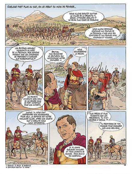 César approche d'Arles