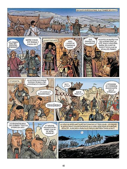 Les croisés devant Nicée lors de la première croisade.