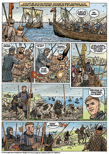Robert Courteheuse débarque en Angleterre.