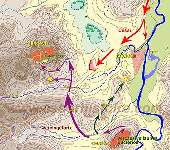 bataille de Gergovie, carte 2