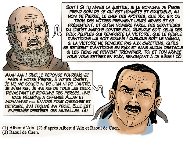 entrevue entre Kerbogha et Pierre l'Ermite