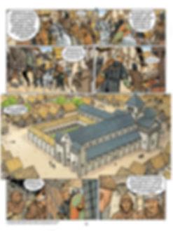 """La cathédrale de Rouen dans le tome 1 de l'album """"Les Fils de Guillaume"""".FG1 coultraitext 08_basdef.jpg"""