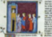 Miniature des Grandes Chroniques de France, Bertrade_de_Montfort_et le roi Philippe.