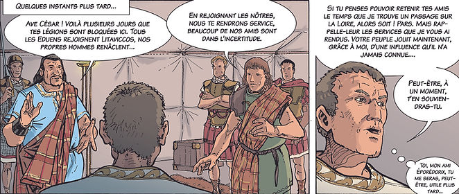 BD Alésia, Viridomaros et Eporédorix quittent César.bas.jpg