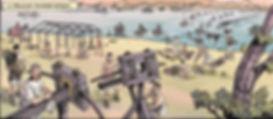 BD ALESIA, les Romains traversent la Loire à gué.