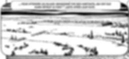 Les éclaireurs romains découvrent, à la tombée de la nuit, la destruction du pont de Chassenard.ALESIA_trait 05 chassenard.jpg