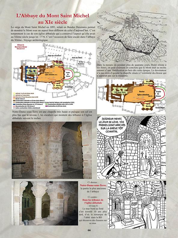 Le Mont Saint Michel au Moyen-âge, refuge de Henri Beauclerc, à la fin du XIéme siècle.