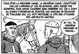 Bohémond et Robert de Normandie lors de la première croisade.