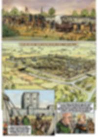 Cité de Bayeux en 1105, avant l'incendie de la cathédrale.