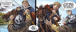 Louis le Gros aux prises avec les gens du comte de Meulan.