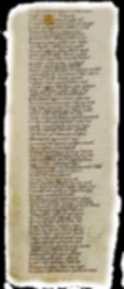 parchemin du carmen de Hastingae Proelio, chant de la bataille d'Hastings