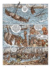 La flotte de Guillaume le Roux prise dans la tempête.