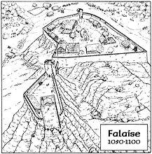 le château de Falase au début du XII siècle