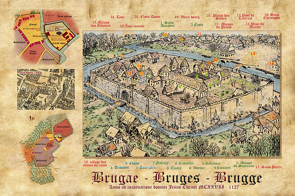 Brugge in het begin XII th eeuw