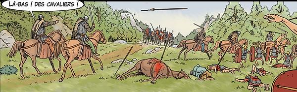 la cavalerie des Germains au secours des légions romaines