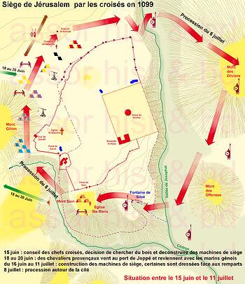 Map of Jérusalem siege, phase B