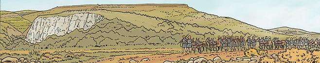 Muletiers romains dans la vallée de l'Auzon au sud de Gergovie