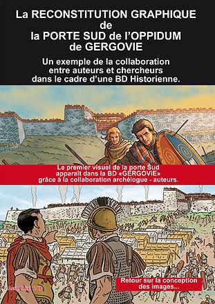 reconstitution de la porte sud de l'oppidum de Gergovie