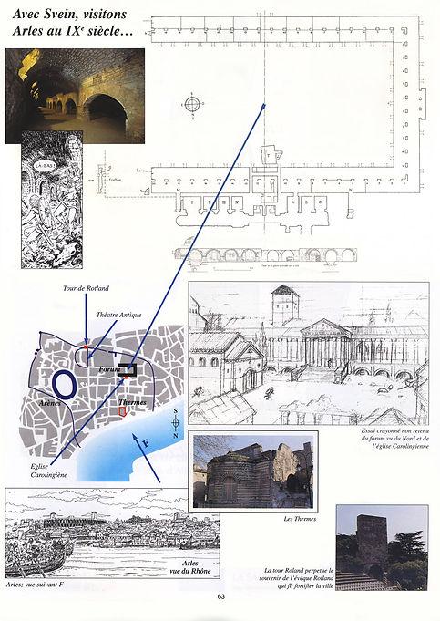 les cryptoportiques d'Arles au haut moyen-âge.