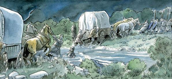 L'armée de Philippe Auguste engluée dans les gués près de Fréteval