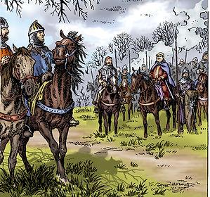 Louis VI arrive devant l'Ormeteau ferré.