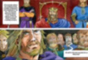 Richard Cœur de lion face à L'empereur Henri le cruel lors de son procès à Haguenau.LionfretP04_ext_D.jpg