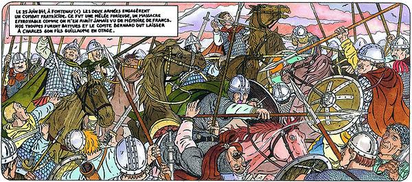la bataille de Fontenoy en Puissaye