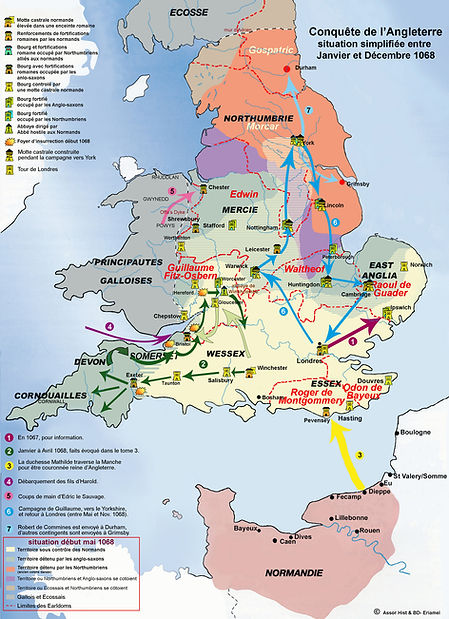 map of england conquest 1068
