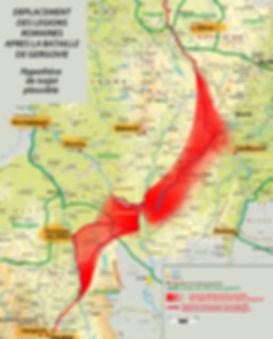 itineraire de César en territoire éduens