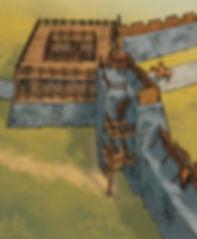 restitution de la porte sud de Gergovie