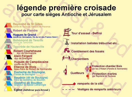 les contingents des croisés devant Jérusalem