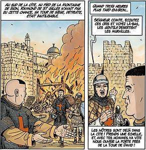 Raimond de Saint Gilles et la tour de David