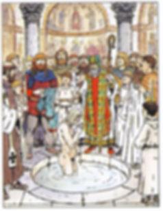 baptême d'Hasting à Luna (Luni)
