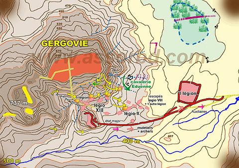 Fin de la bataille principale de Gergovie.