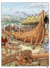 Construction bateau viking