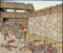mort du centurion Petronius pendant la bataille de Gergovie.