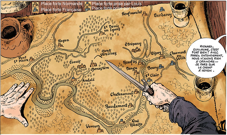 carte du Vexin - et bataille de Brémules