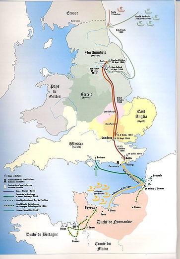 carte Angleterre 1066